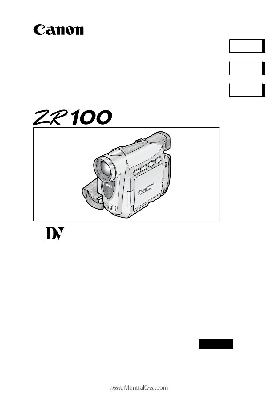CANON ZR100 MANUAL PDF