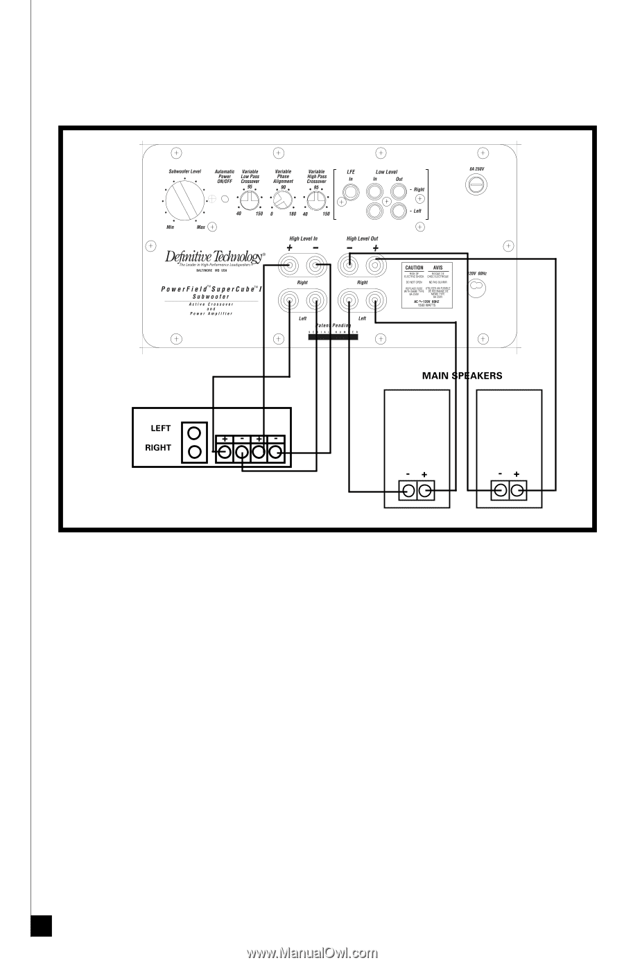 hight resolution of definitive technology wiring diagram