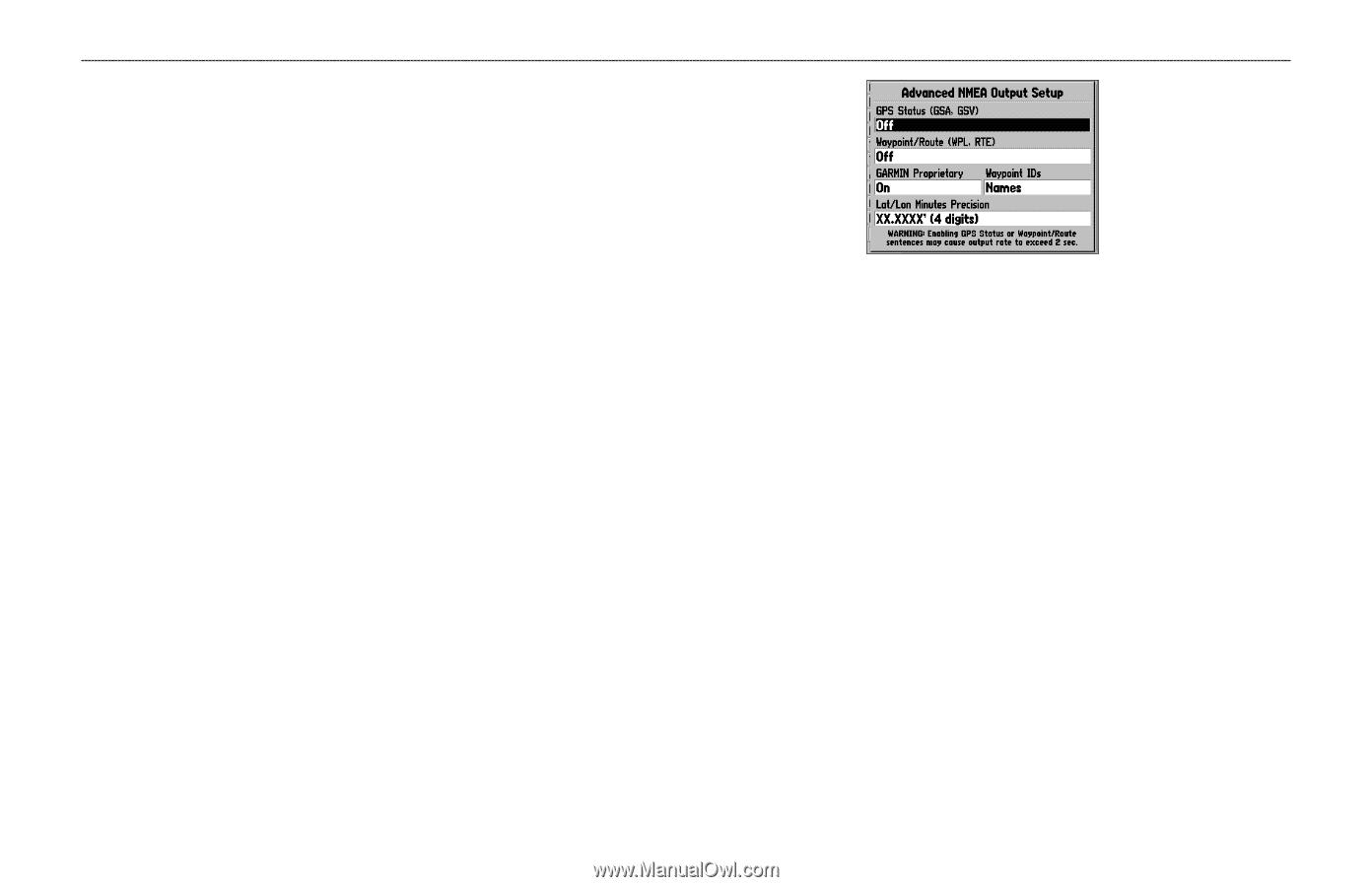 hight resolution of advanced nmea output setup
