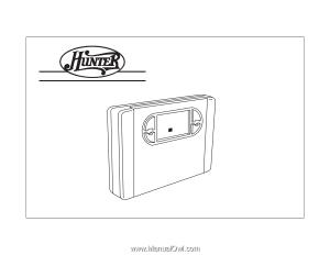 Hunter 44550 | Owner's Manual