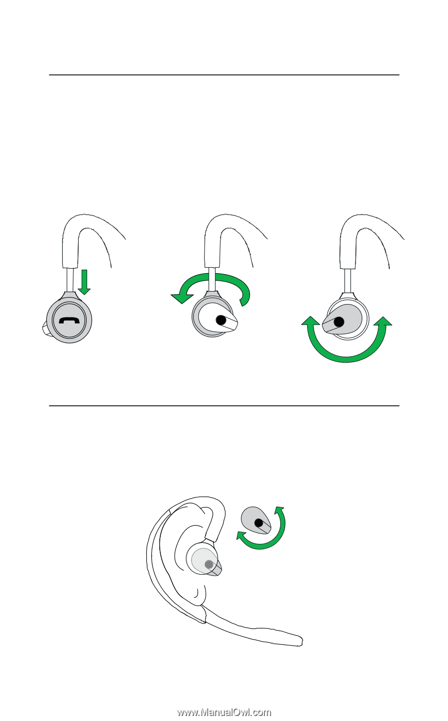Left or right ear wearing style, 3.3 EARGEL POSITIONING
