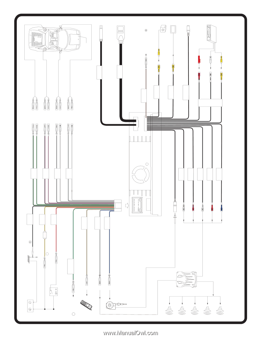 4 channel wiring diagram three way light jensen wire harness auto electrical uv10 amplifier