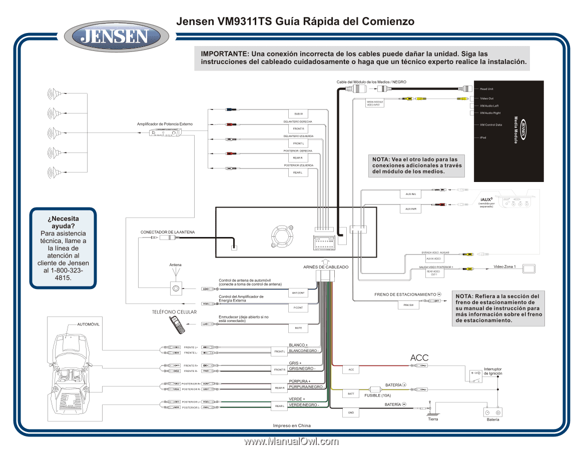 hight resolution of jensen vm9311ts wiring harness diagram
