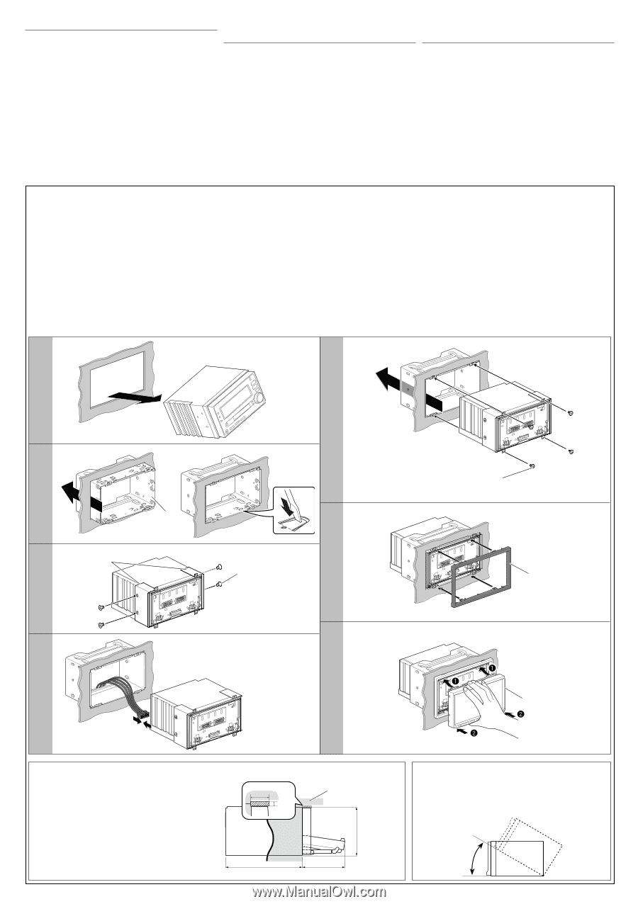 Installation In-dash Mounting, Instalacion Montaje En El