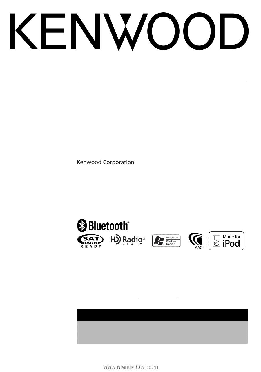 KDC-BT838U MANUAL PDF