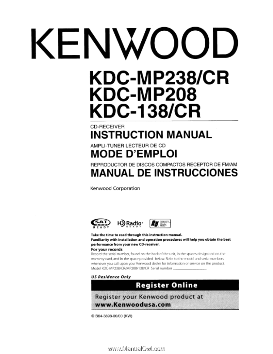 hight resolution of kenwood kdc mp208 radio cd manualkenwood kdc mp208 instruction manual