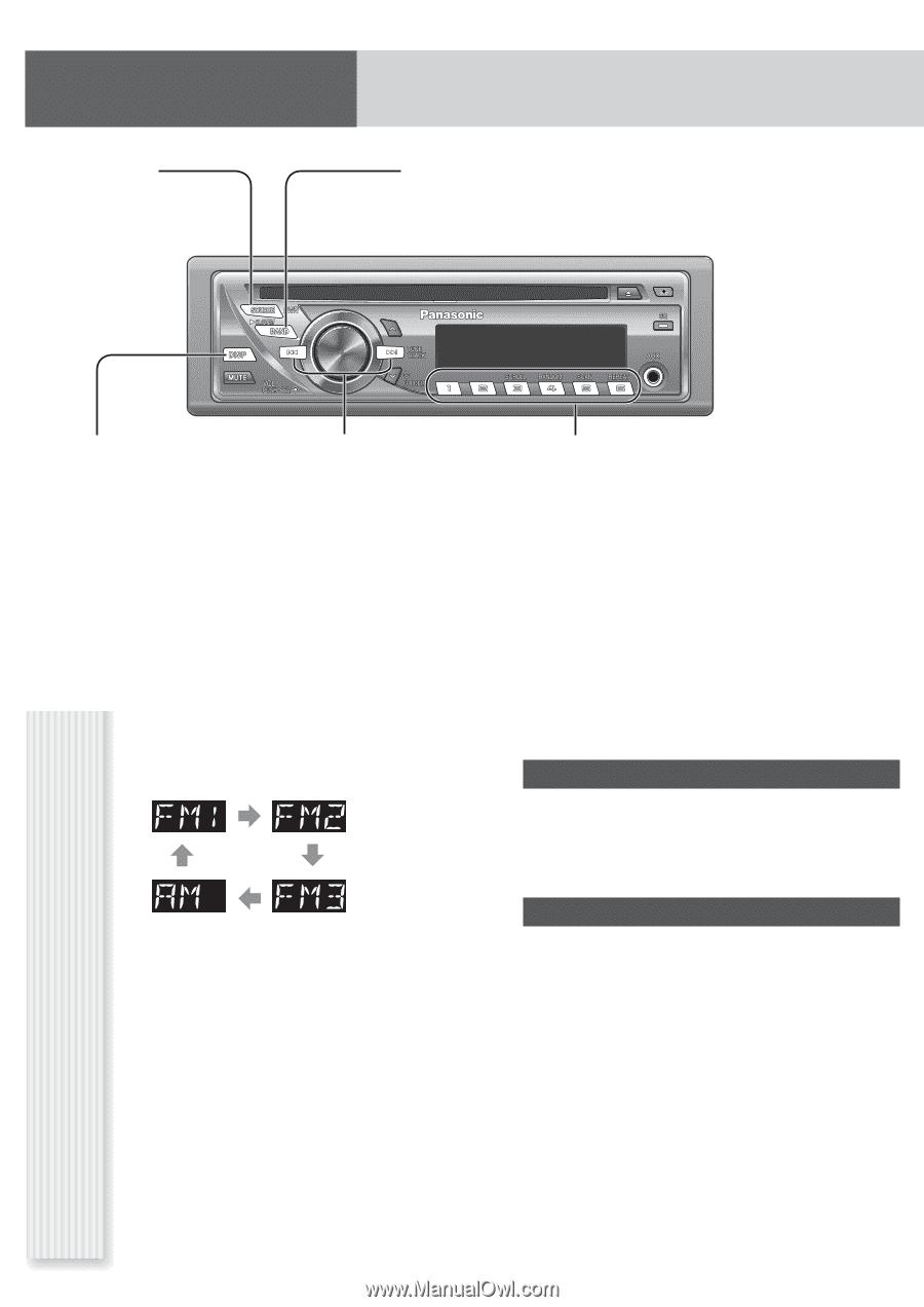 medium resolution of panasonic cq c1305u auto radio cd deck mult lang page 7 radio am fm