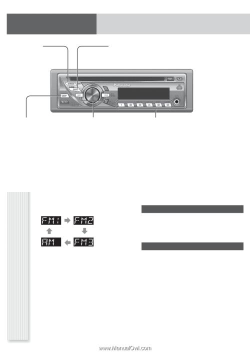small resolution of panasonic cq c1305u auto radio cd deck mult lang page 7 radio am fm