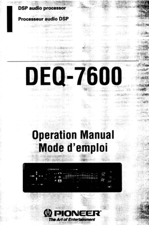 small resolution of pioneer deq 7600 operation manual rh manualowl com jvc eq pioneer equalizer 6500