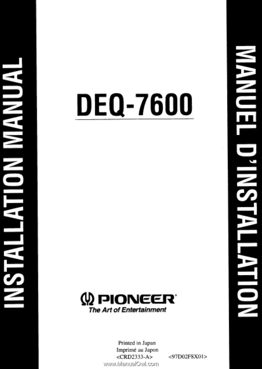 Pioneer Eq 6500 Wiring Diagram Manual