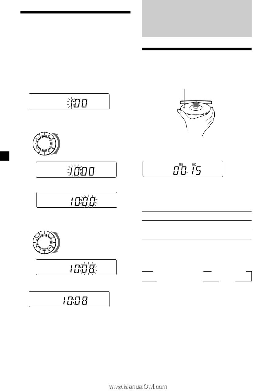medium resolution of sony cdx 4250 operating instructions primary manual 6