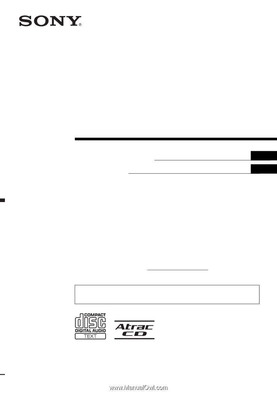 medium resolution of sony cdx gt500 operating instructions