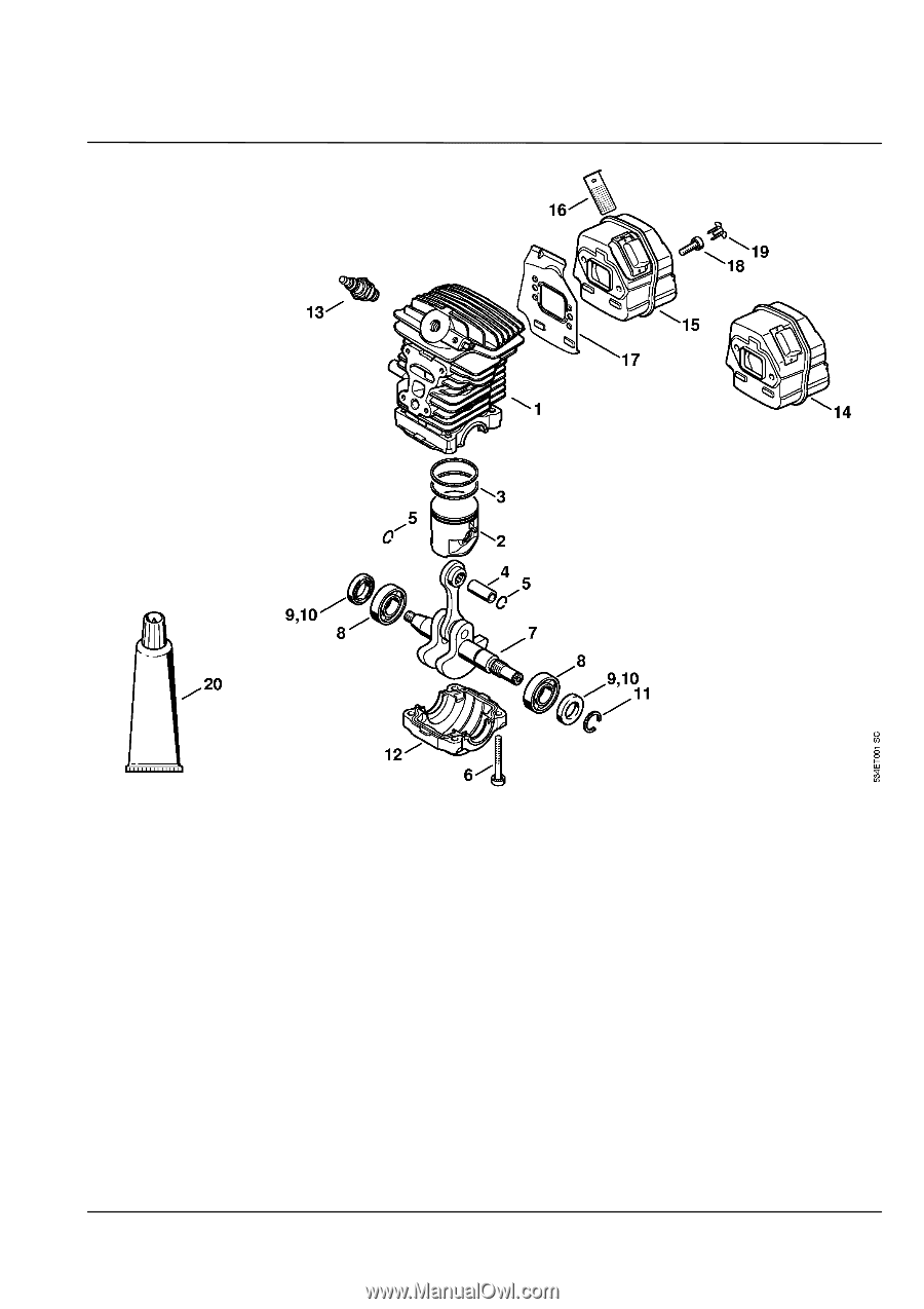 Stihl Ms 181 C Be Parts Diagram