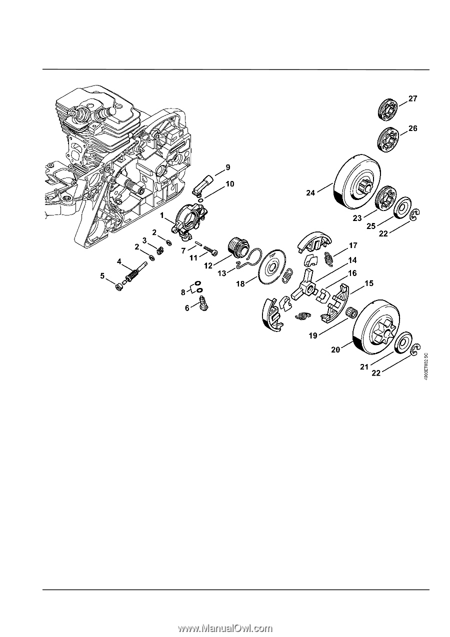 Home Diagram Stihl 011av Parts Diagram