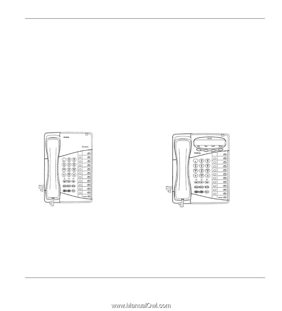 Toshiba strata cix user manual