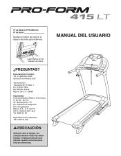 ProForm 415 Lt Treadmill Manual