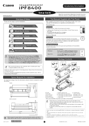 Canon imagePROGRAF iPF8400 Manual