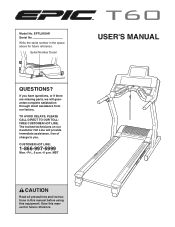 Epic Fitness T60 Treadmill Manual