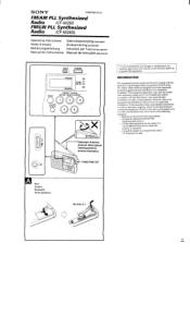 Sony ICF-M260 Manual