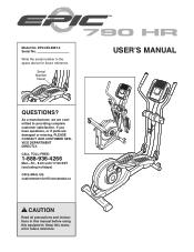 Epic Fitness 790 Hr Elliptical Manual
