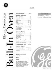 GE JT912BFBB Manual