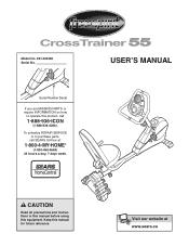 ProForm Free Spirit Crosstrainer 55 Manual