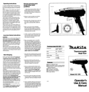 Makita HG1100 Manual