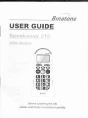 Binatone Speakeasy 210 Manual