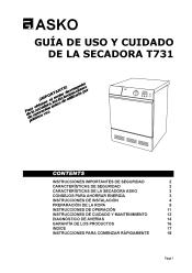 Asko T731 Manual