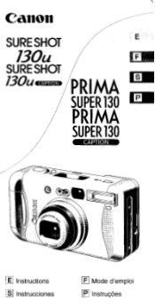 Canon Sure Shot 130u Manual
