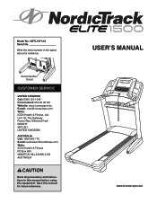NordicTrack Elite 1500 Treadmill Manual