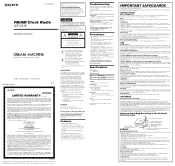 Sony ICF-C218 Manual