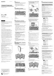 Sony PEGA-KB11 Manual