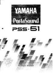 Yamaha PSS-51 Manual