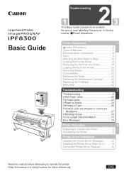 Canon imagePROGRAF iPF8300 Manual