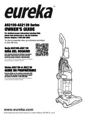 Eureka AS ONE Pet AS2130A Manual