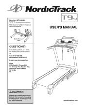NordicTrack T9 Si Cwl Treadmill Manual