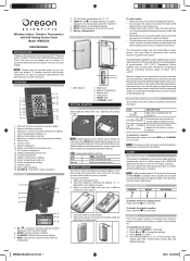 Oregon Scientific RMR382A US Manual