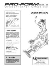 ProForm 20.0 Crosstrainer El Elliptical Manual