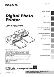 Sony DPP-FP95 Manual