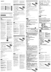 Sony RMF-YD001 Manual
