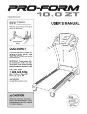 ProForm 10.0 Zt Treadmill Manual