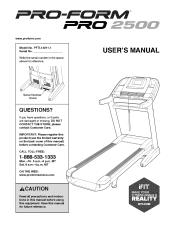ProForm Pro 2500 Treadmill Manual