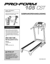 ProForm 105 Cst Treadmill Manual
