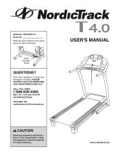 NordicTrack T 4.0 Treadmill Manual