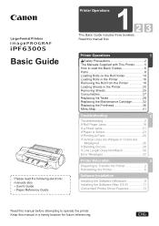 Canon imagePROGRAF iPF6300S Manual