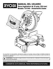 Ryobi TS1346 Manual