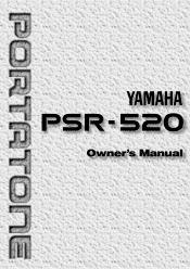 Yamaha PSR-520 Manual