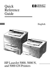 HP LaserJet 5000 Manual