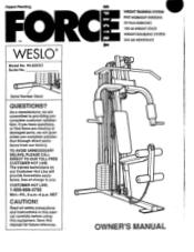 Weslo Spectra Force B01185-b Manual